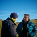 Richard Kretchmer chatting to Iolo Williams