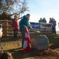 Iolo Williams unveiling the commemorative stone
