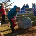 Iolo Williams unveiling the commemorative stone