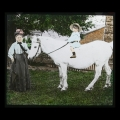 63 Lady with pony and child