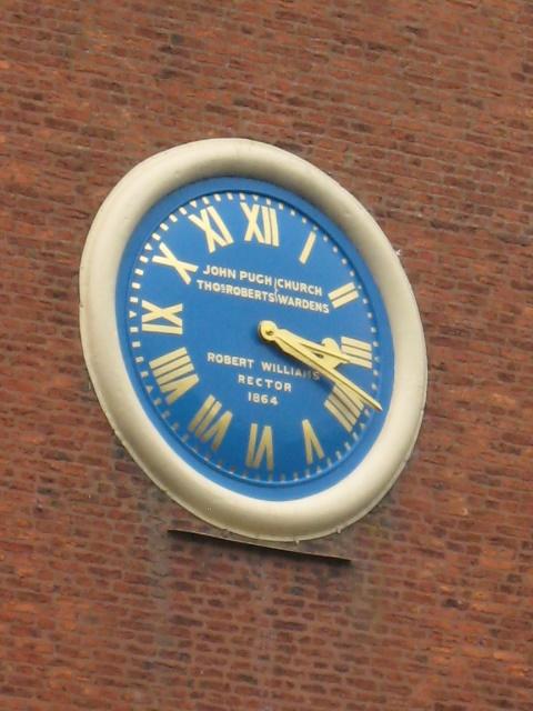 St Myllin's church clock