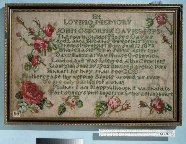 John Osborne Davies Sampler