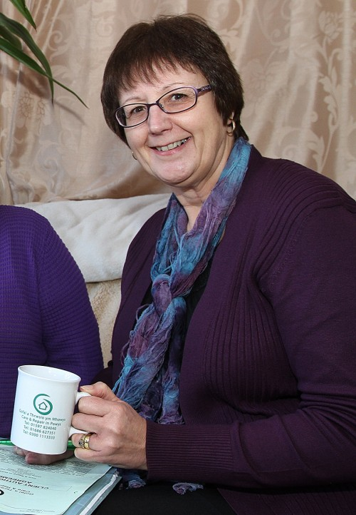 Gaynor Astley, Caseworker at Care and Repair in Powys, is looking forward to the Ageing Well Coffee Morning in Llanfyllin on 27th April