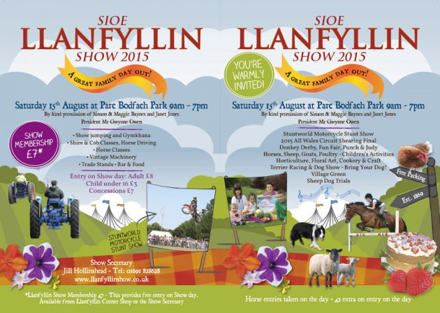Llanfyllin show cover 2015